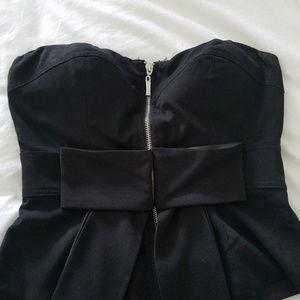 Strapless Dressy Black Top